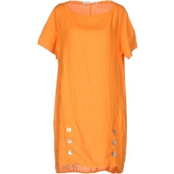 《セール開催中》LFDL LA FABBRICA DEL LINO レディース ミニワンピース&ドレス オレンジ M 麻 100%