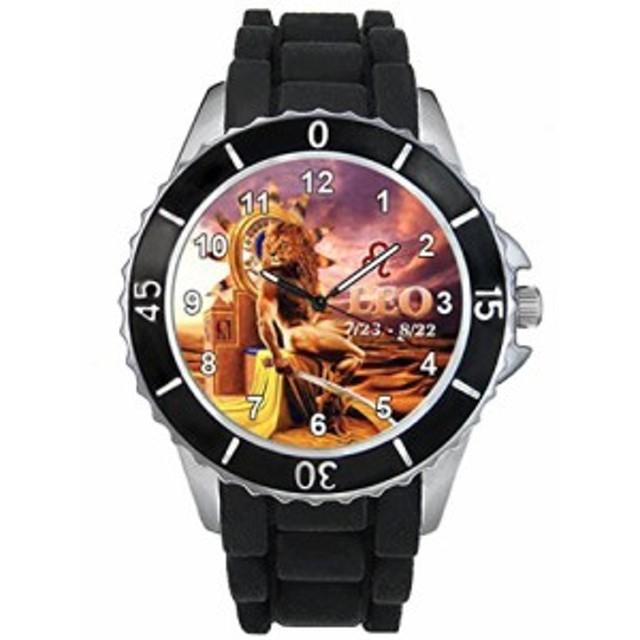 シリコーンバンドとのライオン十二宮合図男女両用デザイン時計