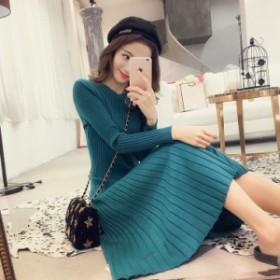 d41b7cc6f9c4c 無地カラーワンピース コーデュロイ シンプル 大人かわいい 通販 トレンド 春服 レディース 韓国 ファッション ワンピース 春