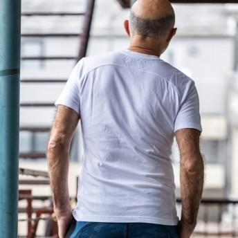 Tシャツ - SHIFFON Kappa×1PIU1UGUALE3 RELAX(ウノピゥウノウグァーレトレ) フロントロゴTシャツ(ホワイト/ネイビー/ブラック)