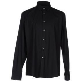 《期間限定 セール開催中》GREY DANIELE ALESSANDRINI メンズ シャツ ブラック 42 コットン 97% / ポリウレタン 3%