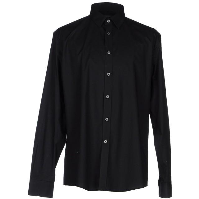 《9/20まで! 限定セール開催中》GREY DANIELE ALESSANDRINI メンズ シャツ ブラック 42 コットン 97% / ポリウレタン 3%