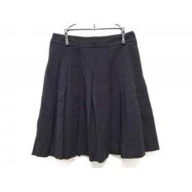 【中古】 ブラックレーベルポールスミス スカート サイズ38 M レディース 黒 プリーツ