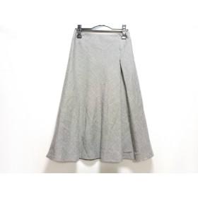 【中古】 ニジュウサンク 23区 スカート サイズ38 M レディース 黒 白 ラメ