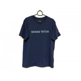 【中古】 ノースフェイス THE NORTH FACE 半袖Tシャツ サイズL メンズ ダークネイビー ライトブルー