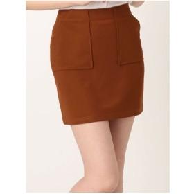 EMODA BOXYポケットミニスカート(ブラウン)