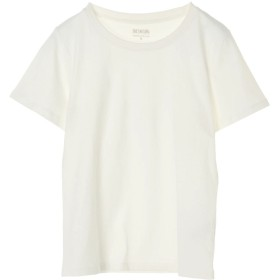 アースミュージックアンドエコロジー earth music & ecology オーガニックコットンクルーネックTシャツ (Off White)