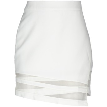 《期間限定セール開催中!》FRANKIE MORELLO レディース ミニスカート ホワイト XS ポリエステル 100%