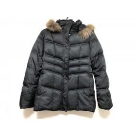 【中古】 クリアインプレッション ダウンコート サイズ3 L レディース 黒 ジップアップ/冬物