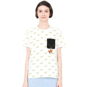 [マルイ] 【ユニセックス】コラボレーションTシャツ/バナナパターン(おさるのジョージ)/グラニフ(graniph)