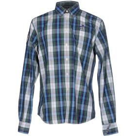 《期間限定セール開催中!》NZA NEW ZEALAND AUCKLAND メンズ シャツ ブルー S コットン 100%