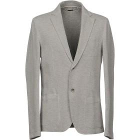 《セール開催中》GUESS BY MARCIANO メンズ テーラードジャケット ライトグレー 48 コットン 83% / ポリエステル 14% / ポリウレタン 3%