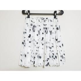 【中古】 ジャスグリッティー JUSGLITTY スカート サイズ2 M レディース 白 黒 プリーツ