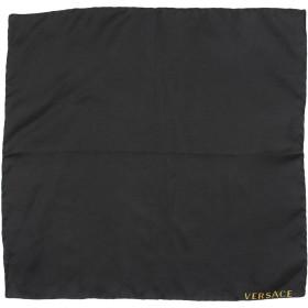 《期間限定 セール開催中》VERSACE メンズ スカーフ ブラック 100% シルク