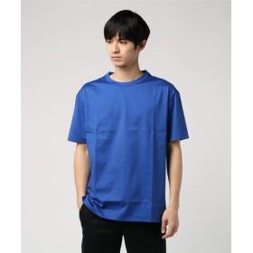 ESTNATION / クリスタルジャージー半袖Tシャツ ブルー/MEDIUM(エストネーション)◆メンズ Tシャツ/カットソー