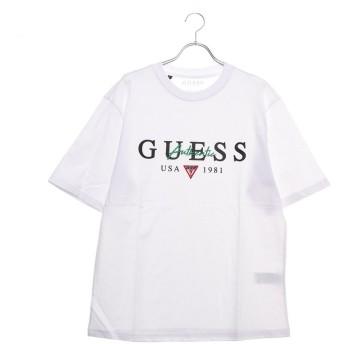 ゲス GUESS AUTHENTIC LOGO TEE (WHITE)