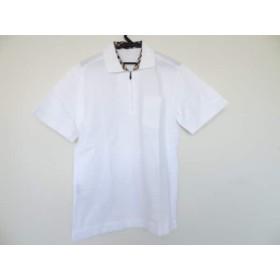 【中古】 ダックス DAKS 半袖ポロシャツ サイズM メンズ 白 ジップアップ