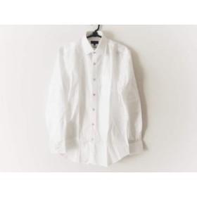 【中古】 ポールスミス PaulSmith 長袖シャツ サイズM メンズ 美品 白 Albini/COLLECTION