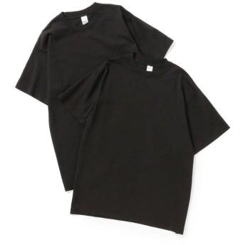 ビームス メン LOSANGELES APPAREL × BEAMS / 別注 2パック Tシャツ メンズ BLACK L 【BEAMS MEN】