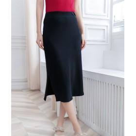 セゾン ド パピヨン ウエストゴムIラインスカート レディース ブラック Lサイズ 【SAISON DE PAPILLON】