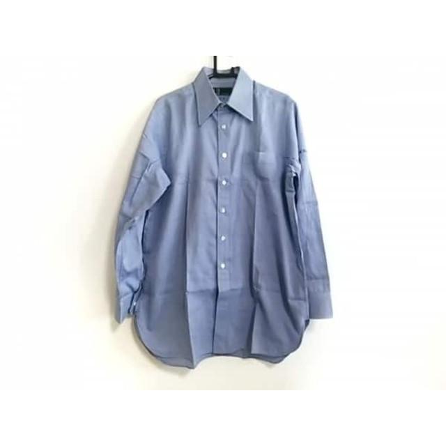 【中古】 ダンヒル dunhill/ALFREDDUNHILL 長袖シャツ サイズ7 メンズ 美品 ブルー
