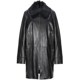 《期間限定 セール開催中》UNFLEUR レディース コート ブラック 40 革 100% / リアルファー