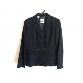 【中古】 ダナキャラン DKNY ジャケット サイズ2 M レディース 美品 黒
