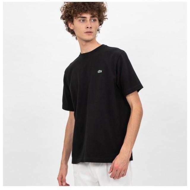 ラコステ 鹿の子クルーネックTシャツ(半袖) メンズ ブラック 4(日本サイズL) 【LACOSTE】