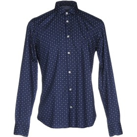 《セール開催中》MANUEL RITZ メンズ シャツ ダークブルー 38 コットン 100%