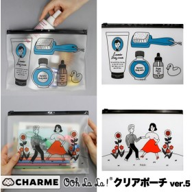 OohLaLa 1537 CLEAR POUCH ver.5 クリアケース クリアポーチ トラベルポーチ 韓国 おしゃれ かわいい ミニ 透明 旅行 ポーチ 収納 ポーチ 化粧ポーチ コスメポーチ