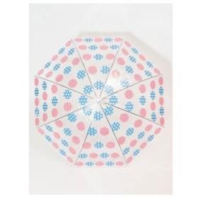 【カヤ】和モダン透明ビニール傘 水玉 アクア