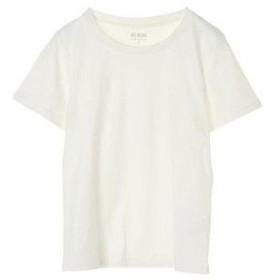 アースミュージックアンドエコロジー earth music&ecology オーガニックコットンクルーネックTシャツ (Off White)
