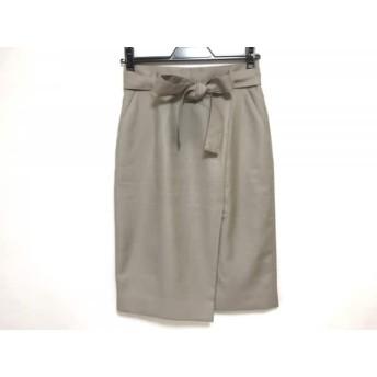 【中古】 ジャスグリッティー JUSGLITTY スカート サイズ1 S レディース ベージュ