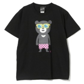 【SPECIAL PRICE】BEAMS T / Sunglass Bear Tee メンズ Tシャツ BLACK M