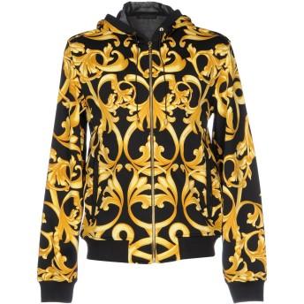 《9/20まで! 限定セール開催中》VERSACE メンズ スウェットシャツ ブラック XS ナイロン 74% / コットン 26%