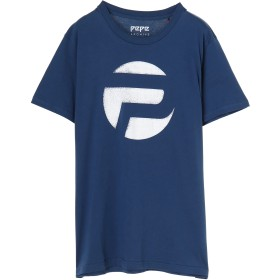 PEPE JEANS LONDON 45TH01MロゴTシャツ Tシャツ・カットソー,ネイビー