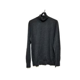 【中古】 ポロラルフローレン 長袖セーター サイズLG L メンズ ダークグレー タートルネック