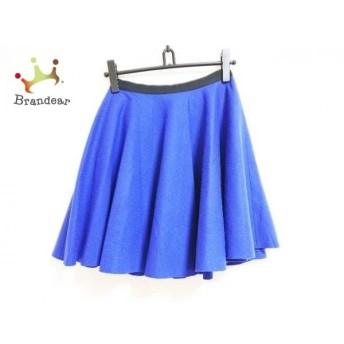 ランバンオンブルー LANVIN en Bleu スカート サイズ38 M レディース ブルー×黒 スペシャル特価 20190813
