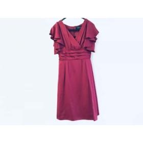 【中古】 ルイルエブティック ドレス サイズ2 M レディース 美品 ボルドー たぐ付き/フリル