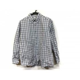 【中古】 ラコステ Lacoste 長袖シャツ サイズ4 XL メンズ ライトグレー ダークグレー チェック柄