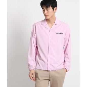 BASE CONTROL(ベースコントロール) KANGOL カンゴール 別注 長袖シャツ 開襟シャツ