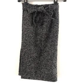 【中古】 エストネーション ESTNATION スカート サイズ36 S レディース 美品 黒 ライトグレー