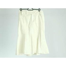 【中古】 ラルフローレン RalphLauren スカート サイズ9 M レディース アイボリー コーデュロイ