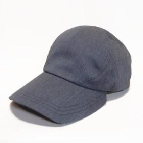ポーションキャップ・コットン/フリーサイズ グレー 頭にフィットする眼鏡のかけやすい帽子!!