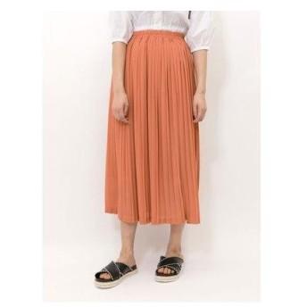 イーハイフンワールドギャラリー E hyphen world gallery カラーロングプリーツスカート (Orange)