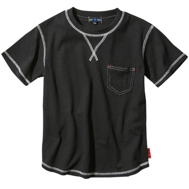 綿混ワッフル ポケット付半袖Tシャツ(男の子。女の子 子供服。ジュニア服) Tシャツ・カットソー