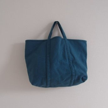 【A4対応】帆布 BASIC TOTE ( M ) blue green