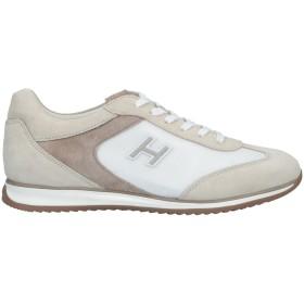 《期間限定セール開催中!》HOGAN メンズ スニーカー&テニスシューズ(ローカット) ベージュ 5.5 革 / 紡績繊維