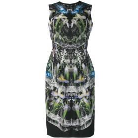 Alexander McQueen プリントドレス - ブラック