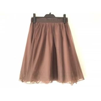【中古】 ジャスグリッティー JUSGLITTY スカート サイズ2 M レディース 美品 ダークブラウン